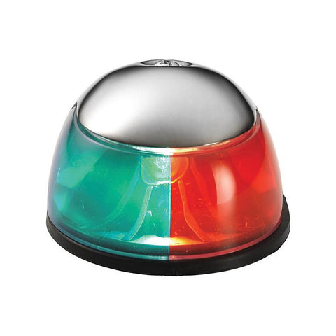 Attwood 2-Mile Deck Mount, Bi-Color Red/Green Combo - 12V - Stainless Steel Housing