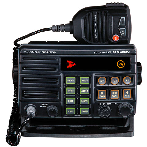 Standard Horizon VLH-3000A 30W Dual Zone PA/Loud Hailer/Fog w/Listen Back & 2 Optional Intercom Stations