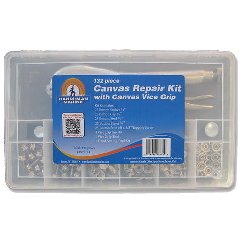 Handi-Man Canvas Repair Kit w/Vice Grip