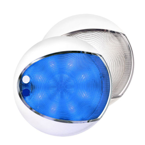 Hella Marine EuroLED 175 Surface Mount Touch Lamp - Blue/White LED - White Housing