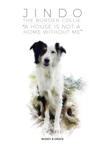Buddy & Grace Dog Poster