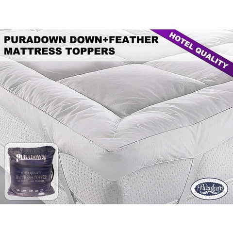 PURADOWN PLUSH MATTRESS TOPPERS Australian Made - yournextquilt.com