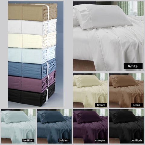 Ramesses 400 Thread Count Egyptian Cotton 4 Piece Sheet Set - yournextquilt.com