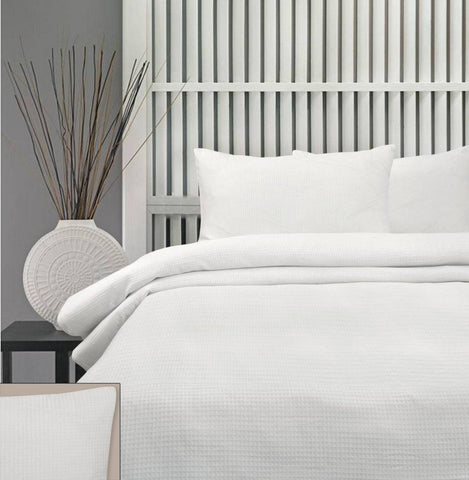 Honeycomb Quilt Cover Set- Comes in White, Linen, Chocolate & Black
