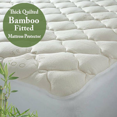 Ramesses Bamboo Quilted Mattress Protector - yournextquilt.com