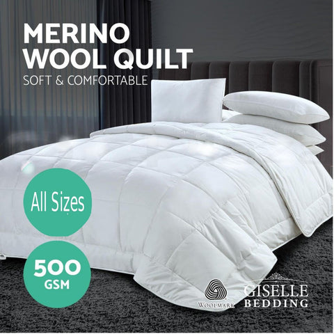 100% Australian Merino Wool Quilt 500GSM Winter Weight - yournextquilt.com