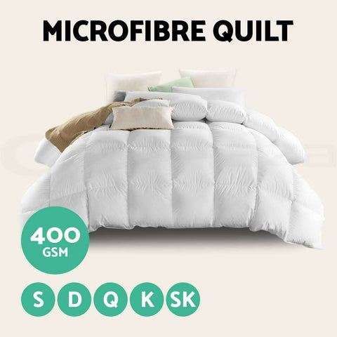 400GSM Microfibre Quilt All Sizes - yournextquilt.com