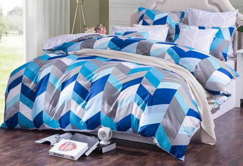 Chevron Tory reversible Quilt Cover Set in Queen and King Size - yournextquilt.com