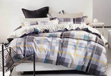 Reversible 100% Cotton Lucas Queen & King Quilt Cover Set - yournextquilt.com