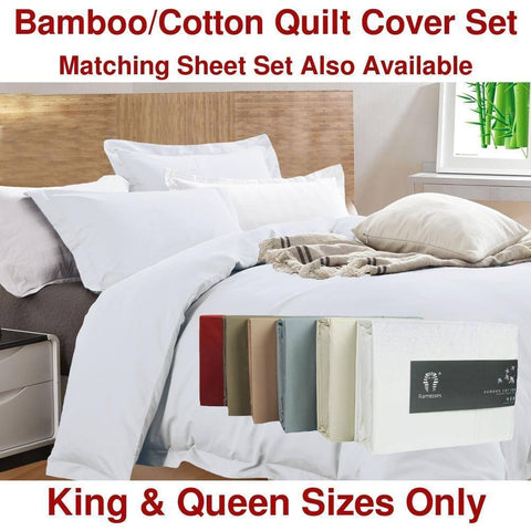 Luxury 400TC Bamboo Cotton Quilt Cover Set - yournextquilt.com
