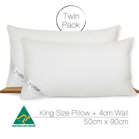 2 KING SIZE Australian Made Microfibre Pillows 90x50cm - yournextquilt.com