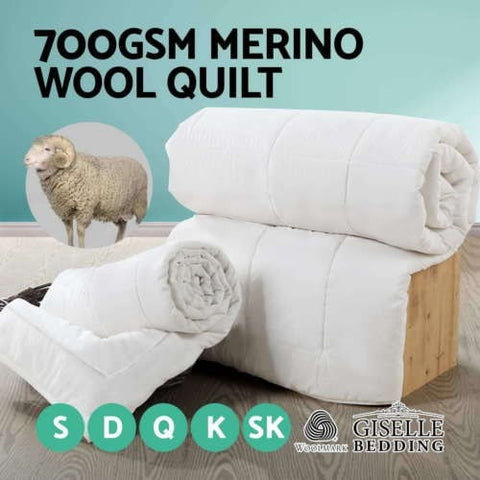 100% Australian Merino Wool Quilt 700GSM Winter Weight- Comes in Super King Size!!! - yournextquilt.com
