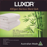 Australian Made Bamboo Winter Quilt 400GSM -Comes in all Sizes Including Super King - yournextquilt.com