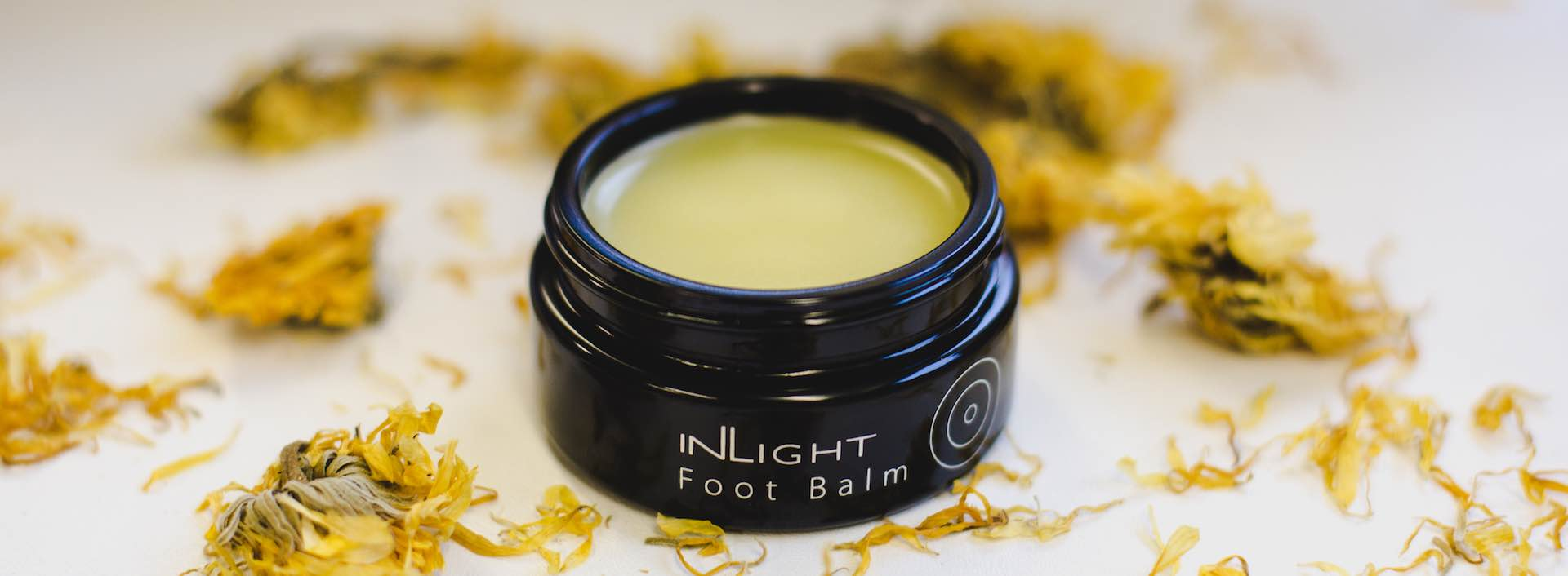 An exquisite, multi-tasking, aromatic balm to revive tired, aching feet and legs, melt away dry, rough skin and improve circulation