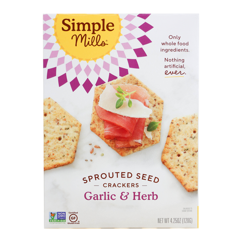 Simple Mills - Garlic & Herb Sprouted Seed Crackers