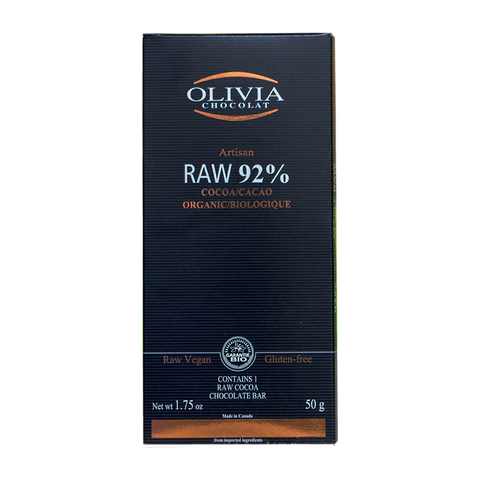 Olivia Chocolat - Raw 76% Chocolate Bar