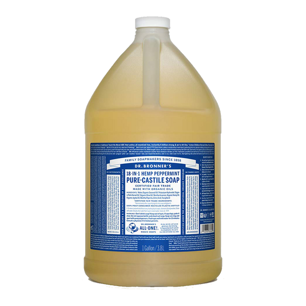 Dr. Bronner's - 18 in 1 Hemp Peppermint Soap - 1 Gallon (Store Pick - Up Only)