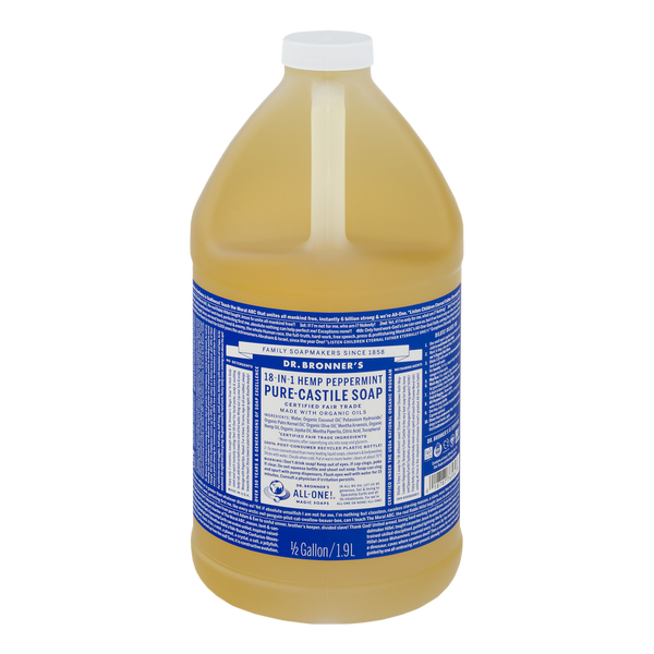 Dr. Bronner's - 18 in 1 Hemp Peppermint Soap - 1/2 Gallon (Store Pick - Up Only)