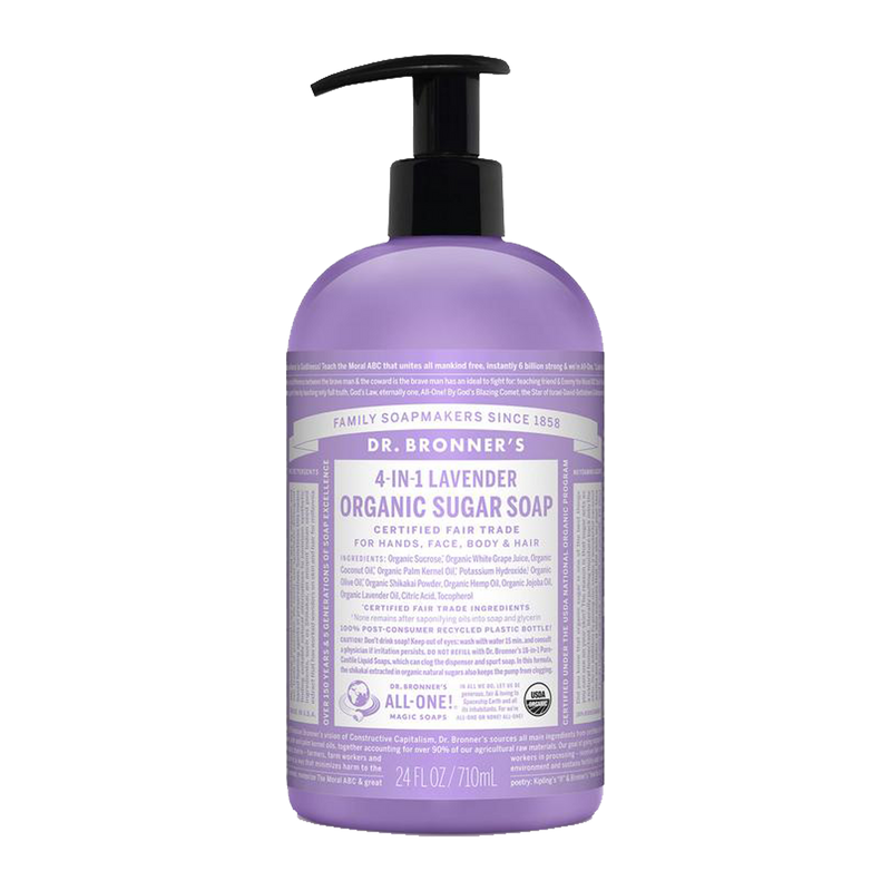 Dr. Bronner's - 4 in 1 - Lavender Sugar Soap - (24 oz)