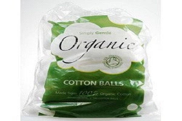 Simply Gentle Organic Cotton Pack of 100 Balls - Made 100% organic cotton Enviro - SustainTheFuture - 1