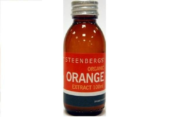 Organic Orange Extract 100ml -  Steenbergs Organic, lovely smelling extract - SustainTheFuture - 1