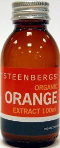 Organic Orange Extract 100ml -  Steenbergs Organic, lovely smelling extract - SustainTheFuture - 4