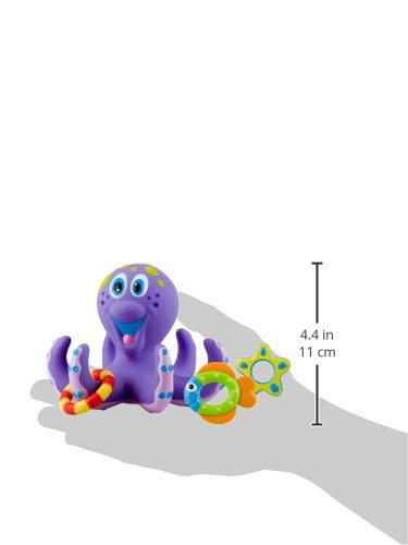 Nuby Octopus Floating Bath Toy (Multi-Coloured) Encourages counting - SustainTheFuture - 2