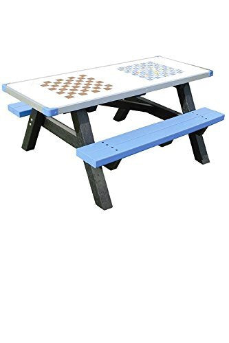 Adult Activity Table / Picnic Table Bench made from Recycled Plastic. It is main - SustainTheFuture - 3