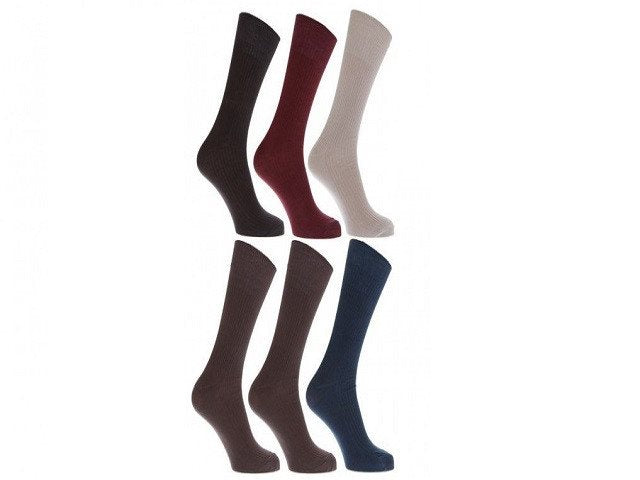 Mens Anti-Bacterial Bamboo Super Soft Work Top Socks (Pack Of 6) - SustainTheFuture - 2