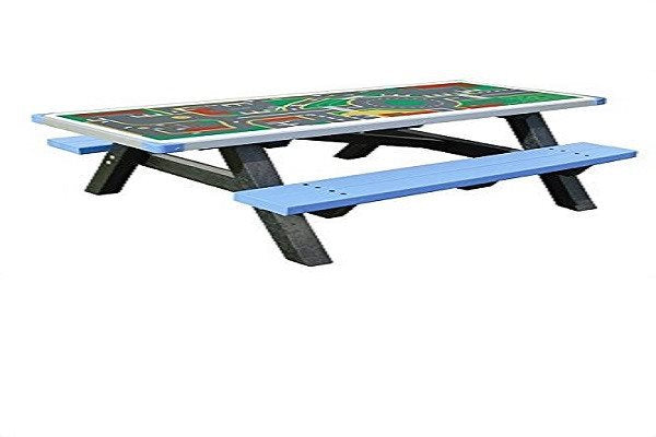 Adult Activity Table / Picnic Table Bench made from Recycled Plastic. It is main - SustainTheFuture - 2