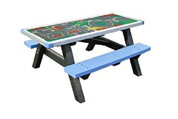 Adult Activity Table / Picnic Table Bench made from Recycled Plastic. It is main - SustainTheFuture - 1