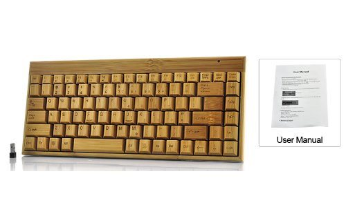 Handcrafted Wireless Bamboo Keyboard - Eco-Friendly - SustainTheFuture - 4