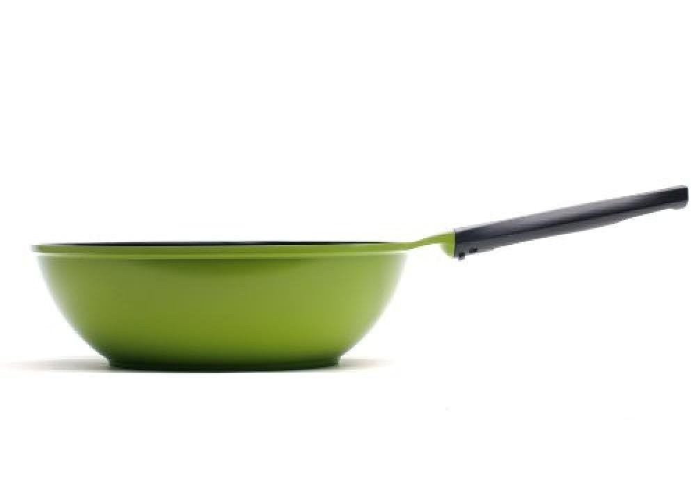 12-Inch Green Earth Wok by Ozeri, with Smooth Ceramic Non-Stick Coating (100% PT - SustainTheFuture - 2