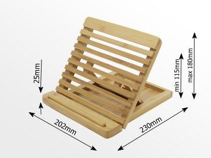 Adjustable iPAD Holder / Stand Desktop Organiser. Made of Eco-friendly Natural S - SustainTheFuture - 2