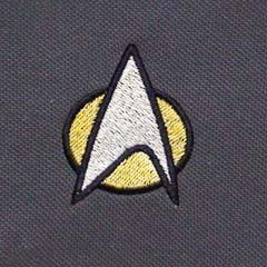 STARTREK STARFLEET logo Polo - Black with Yellow & White - SustainTheFuture - 3