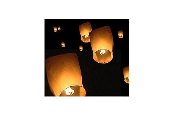 10 x Eco Friendly Sky Lanterns for Christmas, New Years Eve, Chinese New Year, W - SustainTheFuture