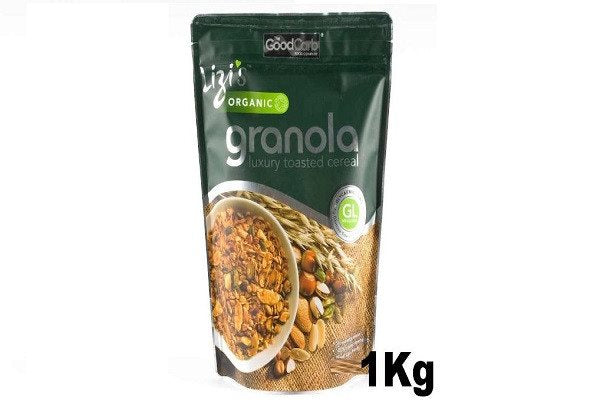 Lizi's Organic Granola 1 Kg Big Value Pack - Made in a factory which handles pea - SustainTheFuture - 1