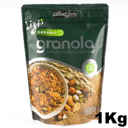 Lizi's Organic Granola 1 Kg Big Value Pack - Made in a factory which handles pea - SustainTheFuture - 2
