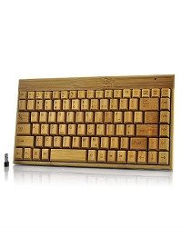 Handcrafted Wireless Bamboo Keyboard - Eco-Friendly - SustainTheFuture - 2