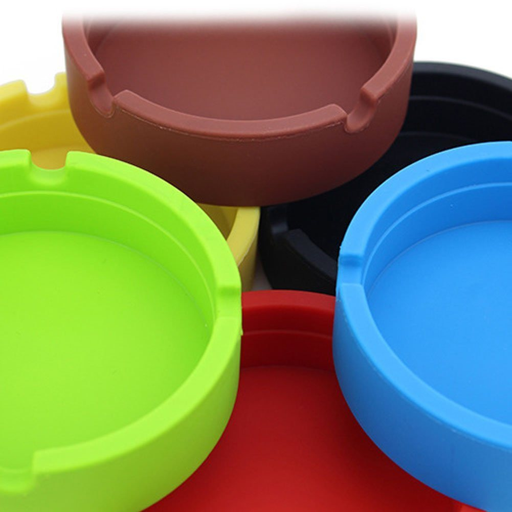 New Life Eco-Friendly Colorful 6PCS Silicone Ashtray (Red-8.3x.3x2.5cm) Bendable - SustainTheFuture - 9