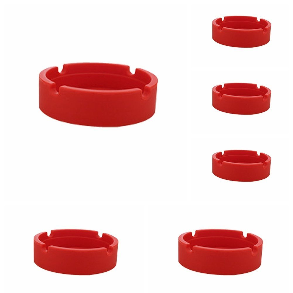 New Life Eco-Friendly Colorful 6PCS Silicone Ashtray (Red-8.3x.3x2.5cm) Bendable - SustainTheFuture - 21