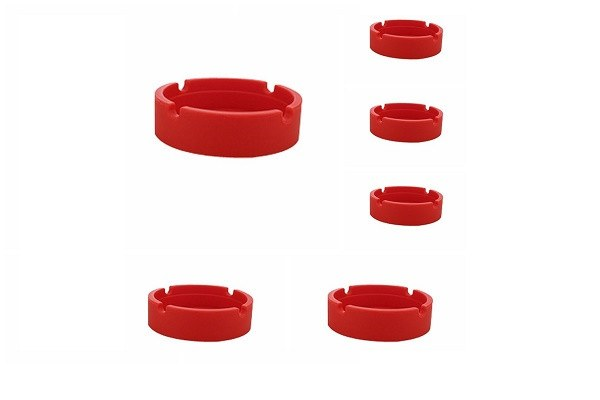 New Life Eco-Friendly Colorful 6PCS Silicone Ashtray (Red-8.3x.3x2.5cm) Bendable - SustainTheFuture - 1