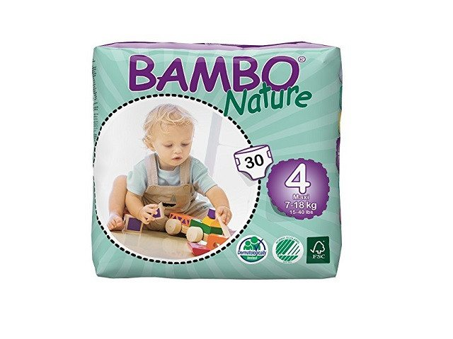 Abena Maxi Bambo Nature Baby Nappies weighing 7-18kg - Pack of 30 - Environmentally friendly - SustainTheFuture - 1