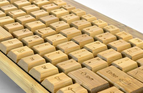 Handcrafted Wireless Bamboo Keyboard - Eco-Friendly - SustainTheFuture - 5