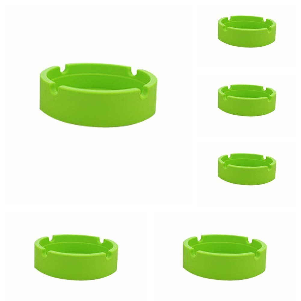 New Life Eco-Friendly Colorful 6PCS Silicone Ashtray (Red-8.3x.3x2.5cm) Bendable - SustainTheFuture - 20