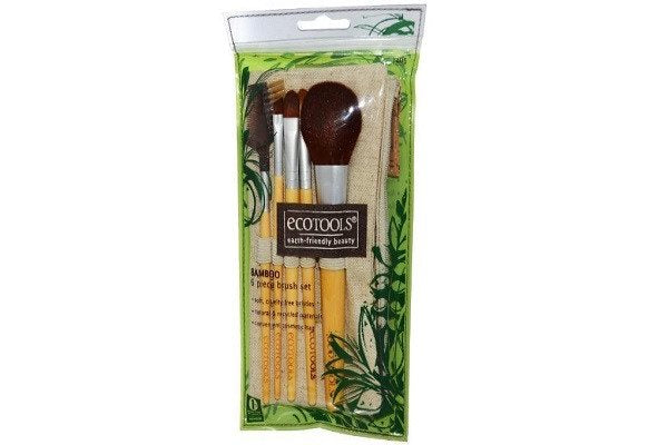 Authentic Organic Natural EcoTools BAMBOO Starter Makeup Brush Set Eco Tools Make up - SustainTheFuture - 1