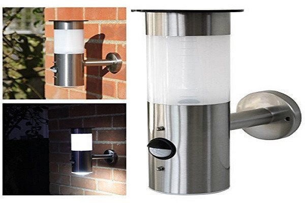 Frostfire Solar Wall Light with PIR Motion Sensor - Solar stainless steel wall l - SustainTheFuture - 1