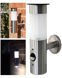 Frostfire Solar Wall Light with PIR Motion Sensor - Solar stainless steel wall l - SustainTheFuture - 2