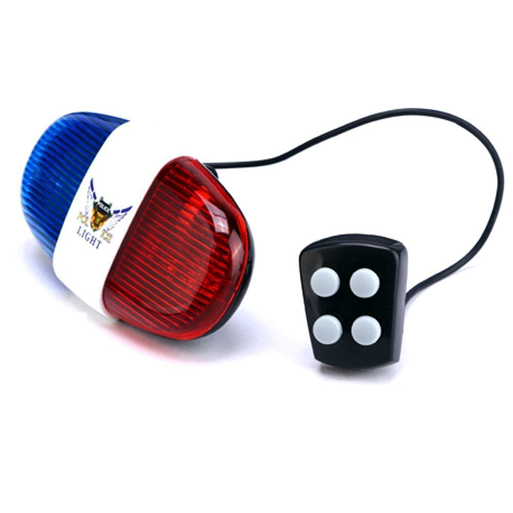 iEpoch Cycling Bike Electric Horn [4 Sounds] Bicycle Police Siren Bell [6 LED Lights] - SustainTheFuture - 2
