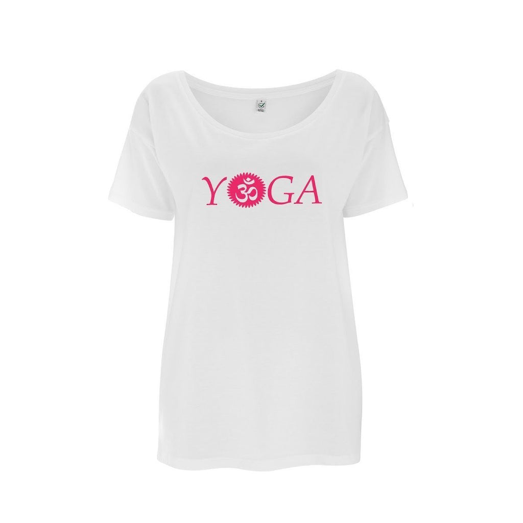 Womens OM Yoga Top made from Eucalyptus Fibre and 50% Organic Cotton - SustainTheFuture - 7